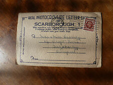Lot54d Real PHOTOGRAPHIC Letter Card SCARBOROUGH 1 Peasholm SPA Postcard c1936