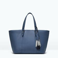 ZARA LEATHER TASSEL SHOPPER BAG NWT!!!