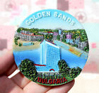 TOURIST SOUVENIR Resin 3D FRIDGE MAGNET -- GOLDEN SANDS , Bulgaria