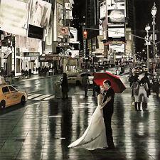 Pierre Benson: Romance in New York Keilrahmen-Bild 50x50 Leinwand Paar Romantik