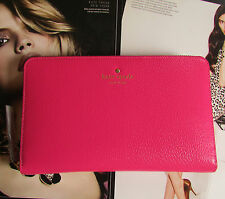 Kate Spade New York Travel Wallet Grand Street Pink Leather NEW