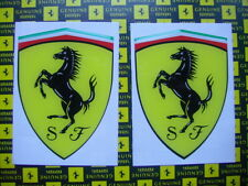 2 x Aufkleber Sticker 3D FERRARI gross Scudo Official Decal 102 x 74mm Adhesivo