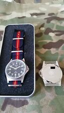 Engraved 50m waterproof MWC G10 watch with date +.Royal Anglian strap R.Ang