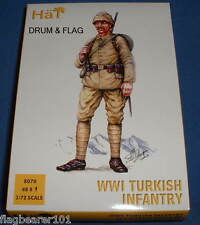 HAT 8070 WWI TURKISH INFANTRY - 1/72 SCALE PLASTIC FIGURES