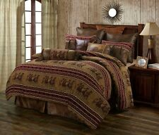 Running Horse Western 5 Pc Super King Comforter Bedding Set - Ranch Equestrian