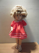 Vintage 1930s Ideal Shirley Temple Composition Doll 18""
