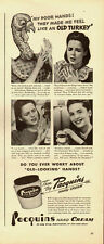 1940's Vintage ad for Pacquins Hand Cream`Turkey`40's Fashions
