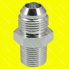 AN10 10AN JIC Straight Male Flare to 1/2 NPT Fitting Adapter Silver 1Yr Warranty
