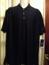 Nwt Jack Nicklaus Mens Classic Navy Golf Ottoman Solid Polo Shirt Size L