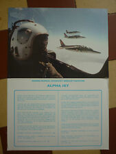 DOCUMENT AVIONS DASSAULT BREGUET AVIATION DORNIER ALPHA-JET CASQUE ULMER PILOTE