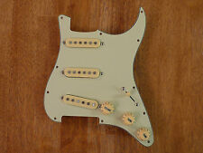 LOADED PICKGUARD MINT GREEN WITH AGED WHITE ALNICO PICKUPS FOR STRATOCASTER
