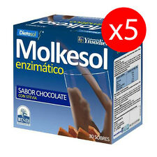 Pack 5 unds. MOLKESOL ENZIMATICO chocolate con Stevia 10 g 30 sobres YNSADIET