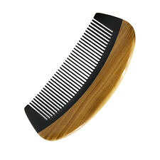 Horn Wood Comb Pocket Beard Hair Comb Fine Tooth Handmade Sandalwood No Static