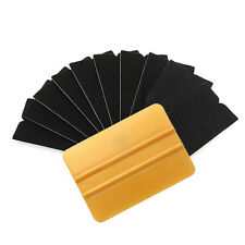 10 Pcs Gold Squeegee Applicator Tool Replaceable Felt Edge Tips Vinyl Wrap Kit