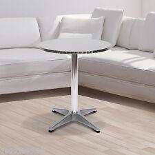 HOMCOM Bar Table Aluminum Home Pub Indoor Outdoor Use Adjustment Height Silver