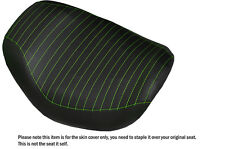 DESIGN 2 L GREEN STITCH CUSTOM FITS HARLEY STREET ROD VRSCR FRONT SEAT COVER