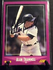 ALAN TRAMMELL AUTOGRAPHED CARD