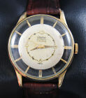 Rare & Unusual Automatic Bidynator Vintage Watch Skeleton Case Original Dial