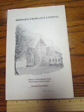 First Baptist Church Mount Gilead North Carolina NC 1875-1975 History SIGNED #