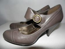 BRONX beautiful taupe brown soft leather Mary Jane court shoes UK 3  Eur 36