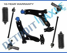 NEW 8pc Front Suspension Control Arm and Tie Rod Kit for 2000-2004 Ford Focus