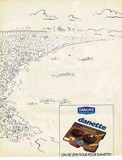 PUBLICITE ADVERTISING 074  1986  DANONE   yaourts desserts DANETTE