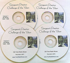 Sergeant Preston Challenge Of Yukon-4 CD 236 Shows-Old Time Radio-FREE S&H