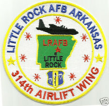 USAF BASE PATCH, LITTLE ROCK AFB, ARKANSAS, 314th AIRLIFT WING, C-130s       Y