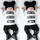 Newborn Kids Baby Girl Boy Clothes Long Sleeve Tops T-shirt+Pants Outfits Set