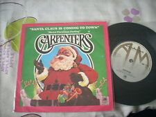 """a941981  the Carpenters US / USA Christmss 7"""" EP Single Santa Claus Is Coming to Town and Merry Christmas Darling"""