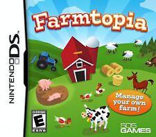 Farmtopia [Nintendo DS DSi, NTSC Video Game, Fun Kids Simulation] Brand NEW