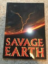 SAVAGE EARTH Environment Nature Science TV Programme Earthquake Volcano Book