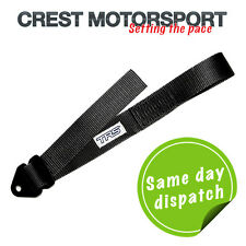 TRS Ajustable Remolque Ojo strap/loop Negro (MSA cumple) race/rally/competition