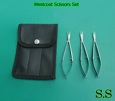 3 Pcs Set of Westcoat Scissors with Cover Good Quality