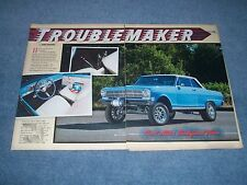 "1962 Chevy II Nova Vintage Style Gasser Article ""Troublemaker"""