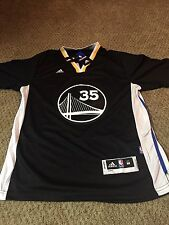 Kevin Durant NBA Golden State Warriors Adidas Slate Sleeve Jersey Swingman M