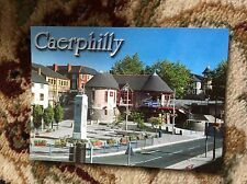 T2-1 postcard unused caerphilly town street view