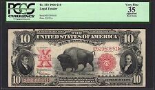 1901 $10 Legal Tender Bison Note Pcgs 35 Vf Apparent Ten Dollar Fr.122 Rare