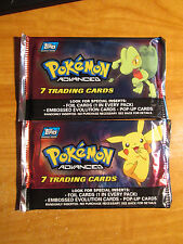 2x SEALED Pokemon TOPPS CHALLENGE Booster Card Pack From Box Pikachu Treecko Art