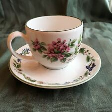 ROYAL WORCESTER HERBS - CUP/SAUCER  FEVERFEW & Thyme Butterfly England