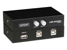 2 Ports USB 2.0 Sharing Switch Switcher Adapter Box For PC Scanner Printer