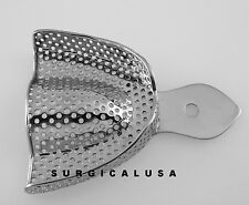 Metal Impression Tray Upper Perforated Large Size, Surgical Dental Instruments