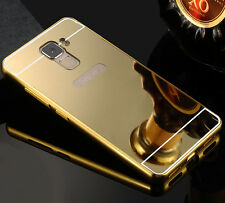 Luxury Mirror Back Cover Skin Metal Aluminum Frame Case For Huawei Various Phone