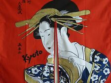 Japanese Noren Curtain UKIYOE BIJIN Geisha Doorway Room Divider Tapestry/Red