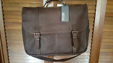 KENNETH COLE Brwn Leather Show Business Laptop Messenger Briefcase (NWT)MSRP$460