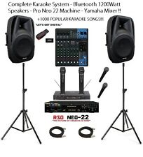 Complete Karaoke System Bundle Bluetooth Active Speakers Pro Neo 22 Machine!!