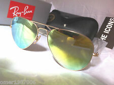 Ray Ban Aviator RB 3025 Gold frame & GOLD MIRROR FLASH Lens SUNGLASSES