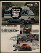 1968 DODGE TRADESMAN Work Van - Executive Suite - Host Wagon - VINTAGE AD
