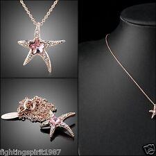 Seestern Halskette Gold Kristall Swarovski Element Geschenk Original Design /035