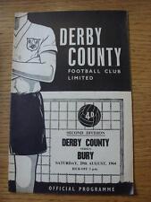 29/08/1964 Derby County v Bury  (Small Rusty Marks)